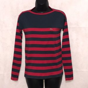 Lacoste Striped Long Sleeve Tee Size 36–E1